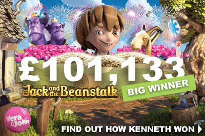 Over £100K Jack And The Beanstalk Slot Big Winner