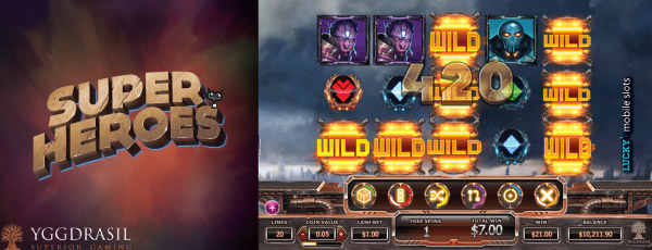 Yggdrasil Super Heroes Slot Machine On Mobile