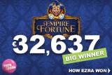 Empire Fortune Jackpot Win at Vera&John Casino