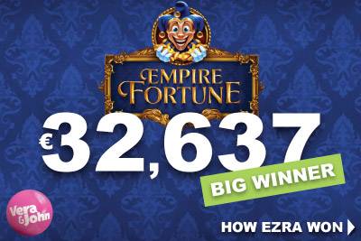 Empire Fortune Jackpot Win at Vera&John Casino