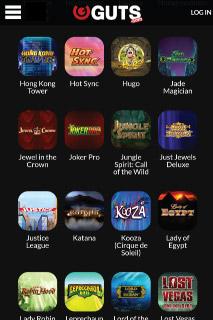 Guts Mobile Casino Slots Portfolio
