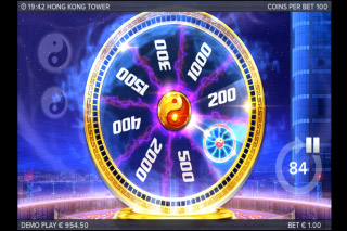 Hong Kong Tower Mobile Slot Bonus Wheel