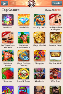 LeoVegas Mobile Casino Top Games