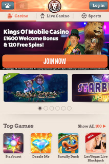 Leo Vegas Mobile Casino Home Bonus