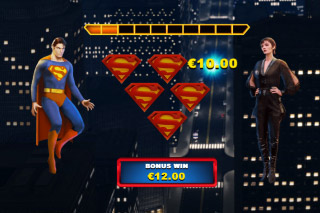 Superman II Mobile Slot Bonus Feature