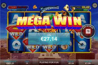 Superman II Mobile Slot Mega Win