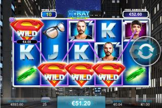 Superman II Mobile Slot XRay Vision Bonus