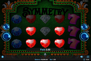 Symmetry Mobile Slot Adjacent Wins