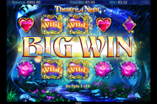 Theatre Of Night Mobile Slot Free Spins Big Win