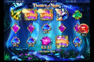 Theatre Of Night Mobile Slot Wild Bonus Win
