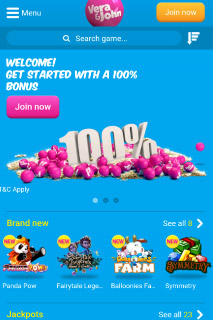 Vera John Casino Bonus Home Page