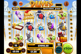 9 Lives Mobile Slot Game