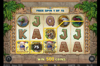 Aztec Warrior Princess Mobile Slot Free Spins