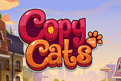 Copy Cats Mobile Slot Logo