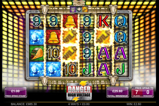 Danger High Voltage Mobile Slot Bonus Reels