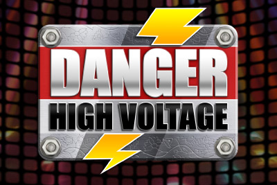 Danger High Voltage Mobile Slot Logo