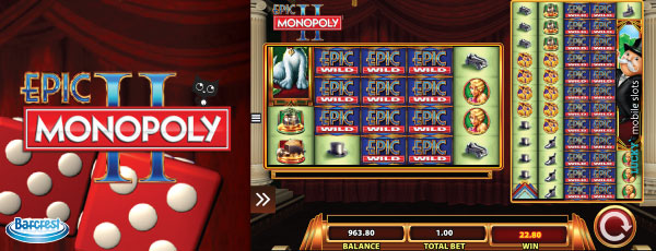 Epic Monopoly II Mobile Slot Machine Reels