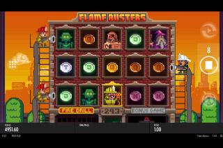 Flame Busters Mobile Slot Bonus Game