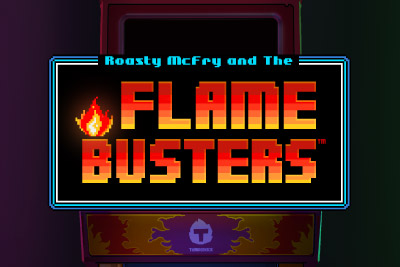 Thunderkick Flame Busters Mobile Slot Logo