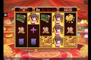 Fortune Girl Mobile Slot Multiplier Free Spins