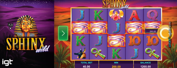 IGT Sphinx Wild Slot On Mobile