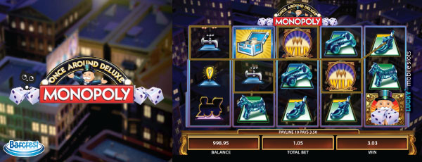 Monopoly Once Around Deluxe Mobile Slot Machine