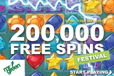 Win Your Share Of 200,000 Mr Green Casino Free Spins