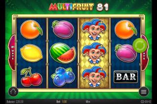 Multifruit 81 Mobile Slot Wild Reel Win