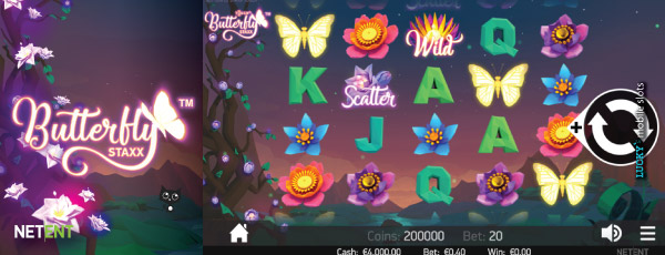 Butterfly Staxx Touch Slot On Mobile Screenshot
