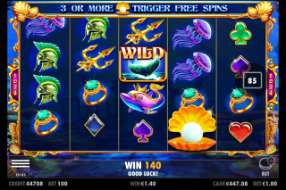 Queen of Atlantis Mobile Slot Game