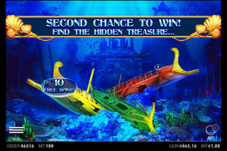 Queen of Atlantis Mobile Slot Second Chance Feature