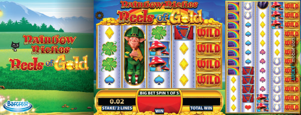 Rainbow Riches Reels of Gold Slot With Colossal Reels