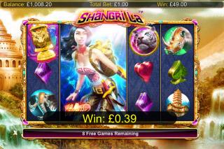 Shangri La Mobile Slot Free Spins Bonus