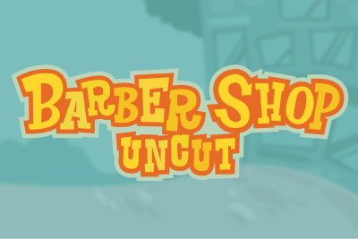 Barber Shop Uncut Mobile Slot Logo