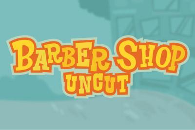 Barber Shop Uncut Mobile Slot Logo