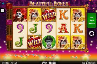 Beautiful Bones Mobile Slot Wilds Win
