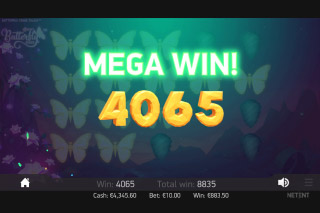 Butterfly Staxx Mobile slot Mega Win