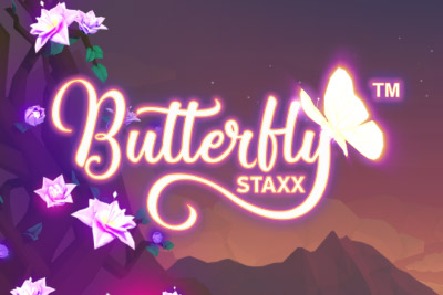 Butterfly Staxx Mobile Slot Logo