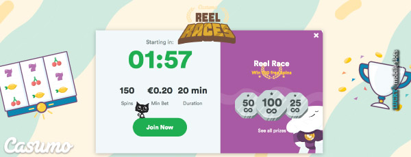 Casumo Casino Reel Races Slot Tournaments