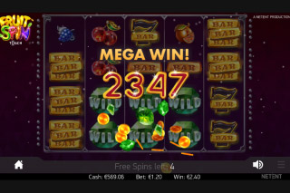 Fruit Spin Mobile Slot Mega Win