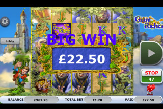 Giant Riches Mobile Slot Big Win