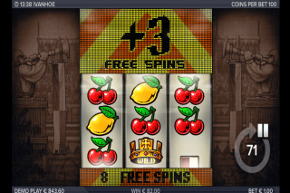 Ivanhoe Mobile Slot Free Spins