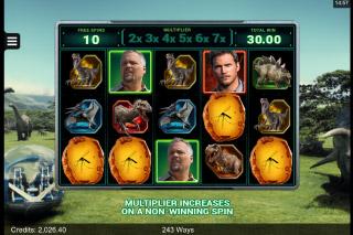 Jurassic World Mobile Slot Gyrosphere Bonus Game