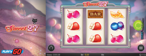 Play'N GO Sweet 27 Mobile Slot Game