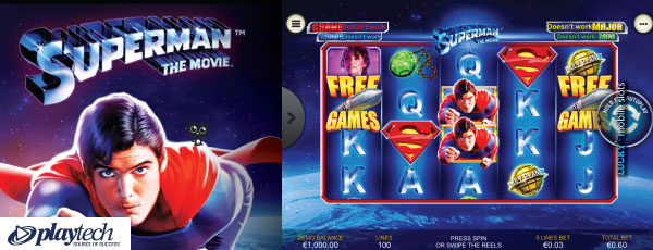 Playtech Superman The Movie Mobile Slot
