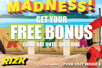 Get Your Free Casino Bonus Every Day In June At Rizk Mobile Casino