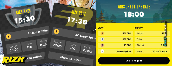 Rizk Casino Rizk Races Every 30 Minutes