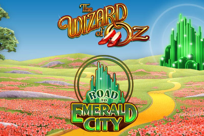 Wizard of Oz Road To Emerald City Mobile Slot Logo