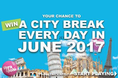 Win A City Break With £€$20 In June At VeraJohn Mobile Casino