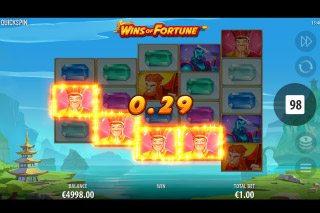 Wins Of Fortune Mobile Slot Base Game Win